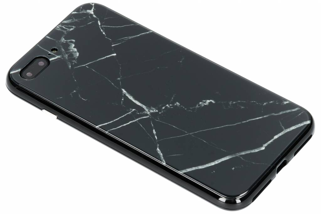 Selencia Zwart marmer design magnetisch hoesje voor de iPhone 8 Plus / 7 Plus