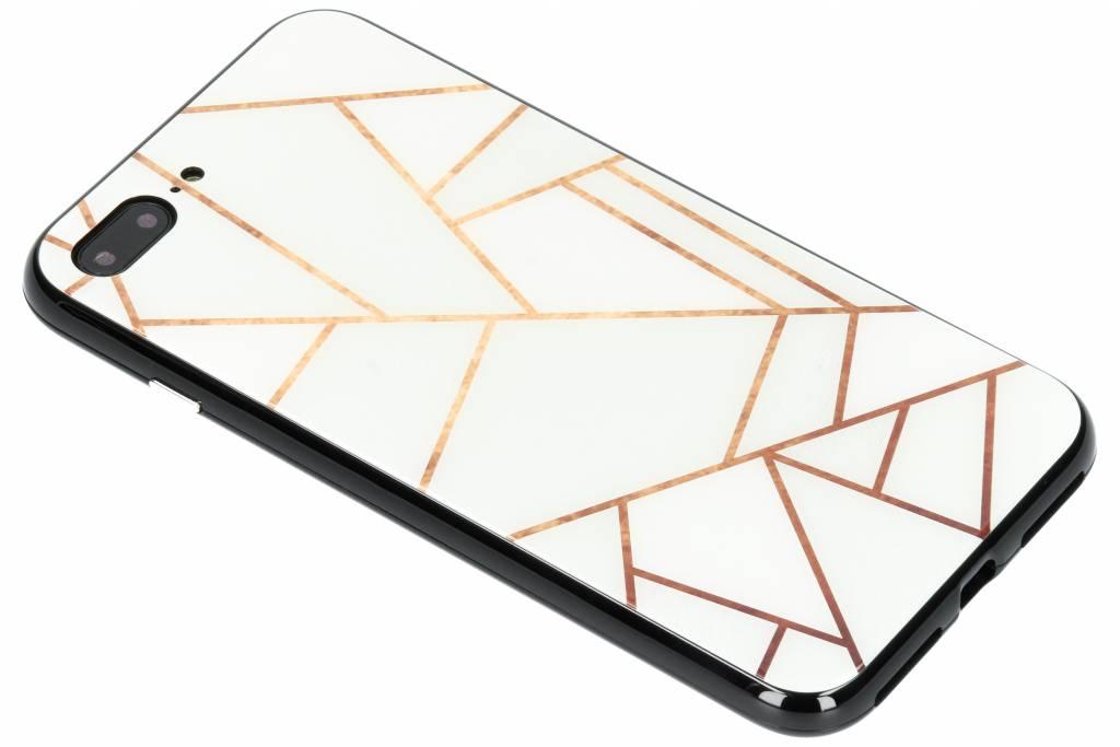 Selencia Wit grafisch design magnetisch hoesje voor de iPhone 8 Plus / 7 Plus
