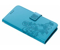 Turquoise klavertje bloemen booktype hoes Oppo A3