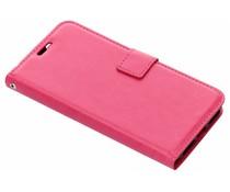 Fuchsia luxe leder booktype hoes Xiaomi Mi A2 Lite
