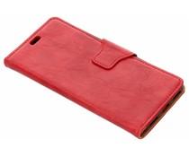 Rood zakelijke TPU booktype hoes Xiaomi Mi A2