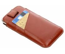 Valenta Bruin Pocket Premium iPhone Xs / X
