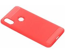 Rood Brushed TPU case Xiaomi Redmi S2
