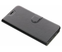 Zwart leder look booktype hoes Xiaomi Mi A1