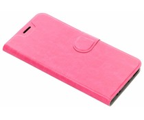 Fuchsia leder look booktype hoes Xiaomi Mi A1