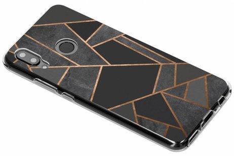 Design Backcover voor Huawei Nova 3 - Grafisch Zwart / Koper