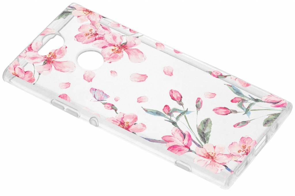 Bloesem Watercolor TPU hoesje voor de Sony Xperia XA2 Plus