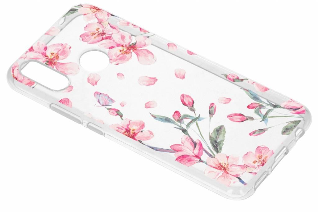 Design Backcover voor Huawei P Smart Plus - Bloesem Watercolor