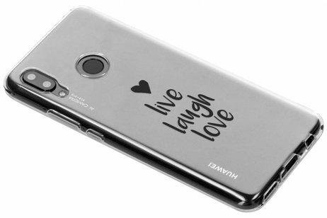 Design Backcover voor Huawei Nova 3 - Live Laugh Love