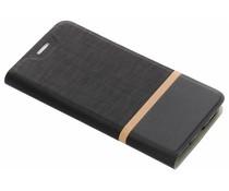 Zwart stripe booklet HTC 10