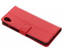 Rood TPU Bookcase Asus ZenFone Live L1