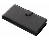 Zwart litchi booktype hoes OnePlus 2