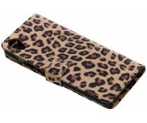 Bruin glanzend luipaard booktype hoes Asus ZenFone Live L1