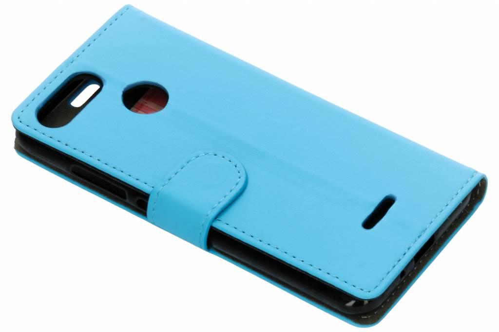 Blauwe luxe booktype hoes voor de Xiaomi Redmi 6