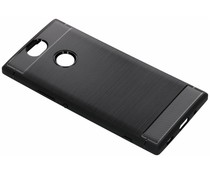 Zwart Brushed TPU Case Sony Xperia XA2 Plus
