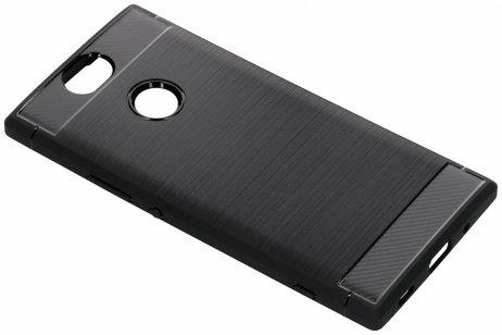Brushed Backcover voor Sony Xperia XA2 Plus - Zwart