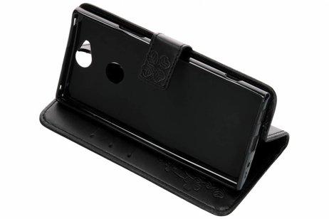 Sony Xperia XA2 Plus hoesje - Klavertje Bloemen Booktype voor