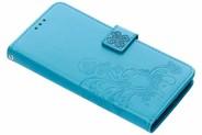 Klavertje Bloemen Booktype voor Sony Xperia XA2 Plus - Turquoise