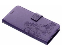 Klavertje Bloemen Booktype Sony Xperia XA2 Plus