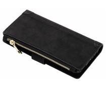 Zwart luxe portemonnee hoes Huawei Mate 10 Lite