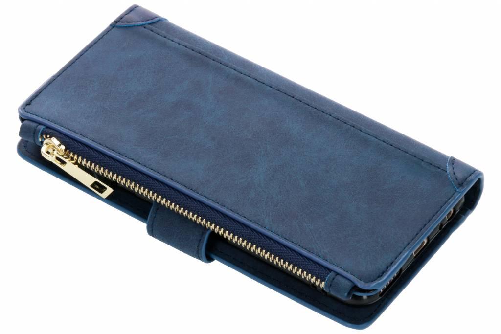 Blauwe luxe portemonnee hoes voor de Huawei Mate 10 Lite