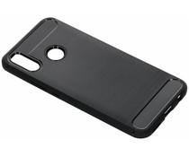 Zwart Brushed TPU case Huawei P Smart Plus