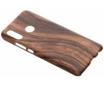 Donkerbruin hout design hardcase hoesje Huawei Nova 3