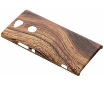 Donkerbruin hout design hardcase hoesje Sony Xperia XA2 Plus