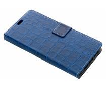 Blauw krokodil booktype hoes Wiko View 2 Pro
