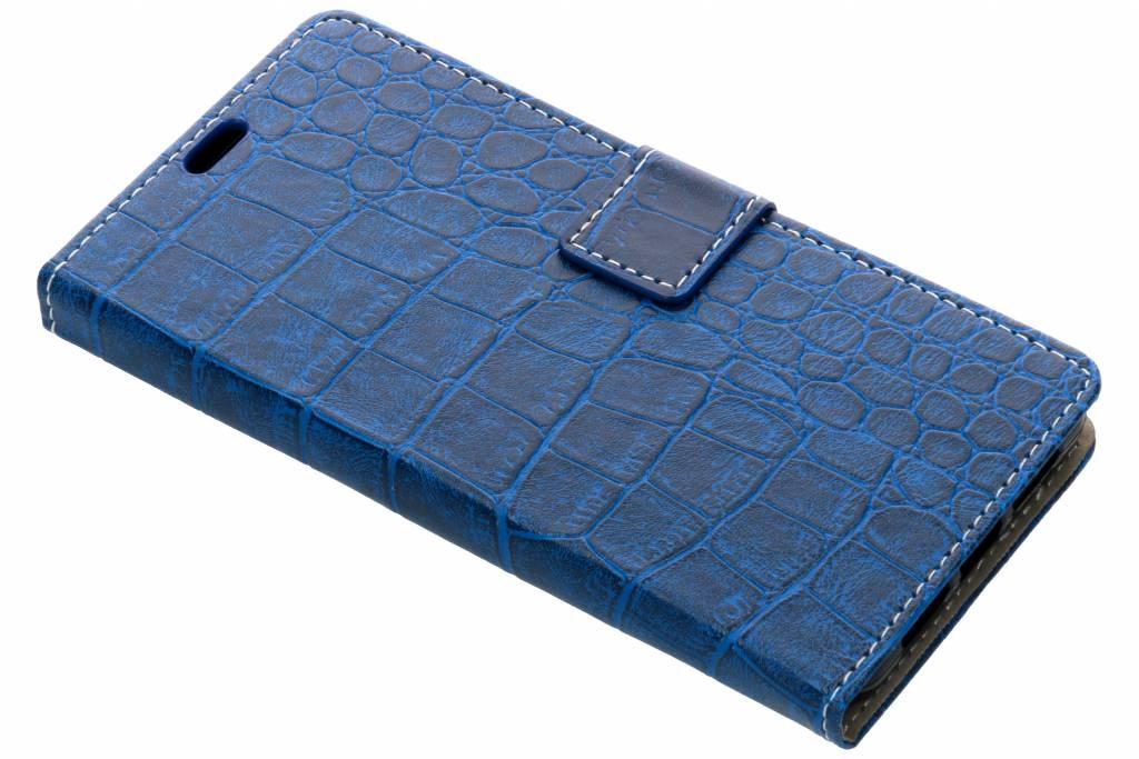 Krokodil Booktype voor Wiko View 2 Pro - Blauw