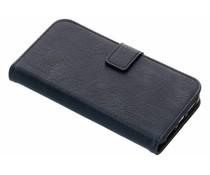 Donkerblauw luxe lederen booktype iPhone Xr