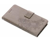 Grijs klavertje bloemen booktype hoes Nokia 5.1