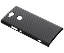 Zwart carbon look hardcase hoesje Sony Xperia XA2 Plus