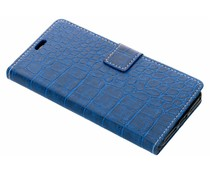 Blauw krokodil booktype hoes Wiko View 2