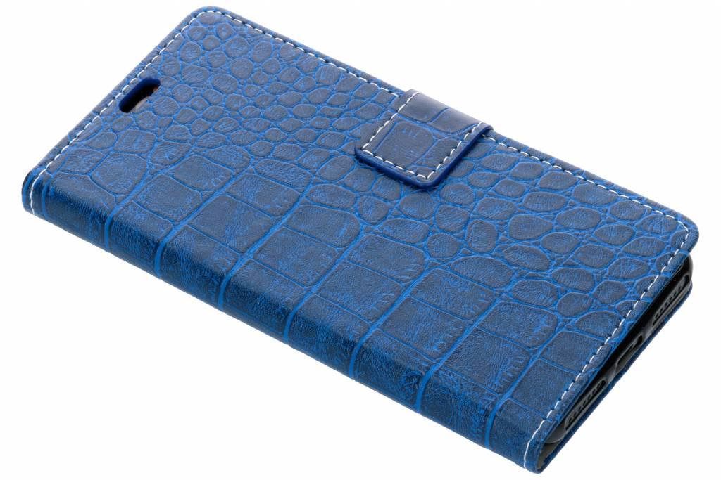 Krokodil Booktype voor Wiko View 2 - Blauw