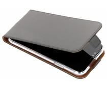 Selencia Grijs Luxe TPU Flipcase iPhone Xr