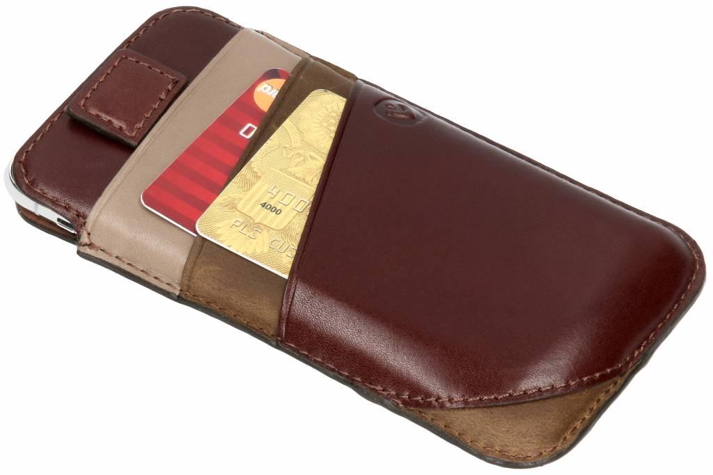 Valenta Bruine Pocket Supreme voor de iPhone Xs / X