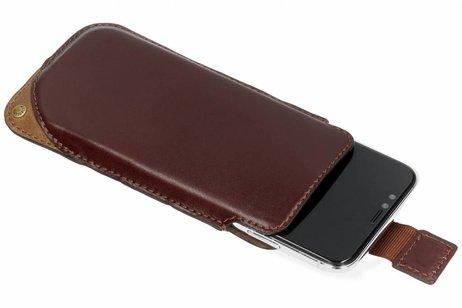 Valenta Pocket Supreme Insteekhoes voor iPhone X / Xs - Bruin
