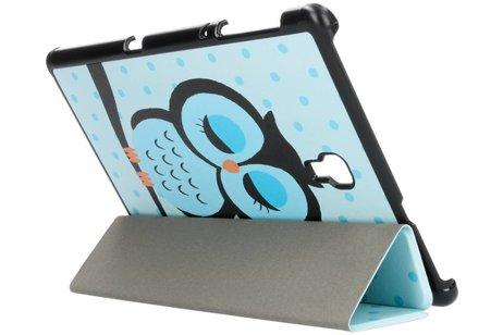 Design Hardcase Bookcase voor Samsung Galaxy Tab A 10.5 (2018) - Uiltjes