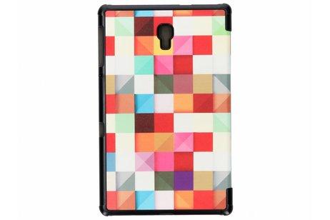 Design Hardcase Bookcase voor Samsung Galaxy Tab A 10.5 (2018) - Kleurtjes