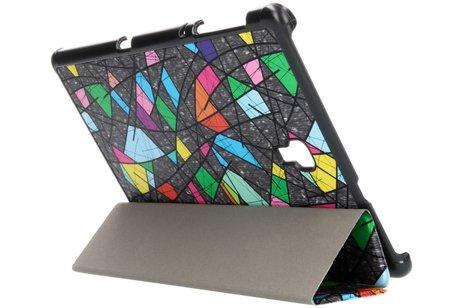 Design Hardcase Bookcase voor Samsung Galaxy Tab A 10.5 (2018) - Grafische kleuren