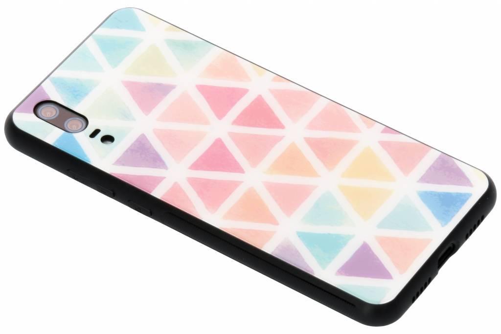Gekleurd driehoekjes design glazen hardcase voor de Huawei P20