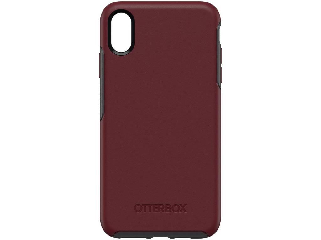 OtterBox Bordeauxrode Symmetry Case voor de iPhone Xs Max