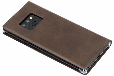 Samsung Leather Wallet Booktype voor Samsung Galaxy Note 9 - Bruin