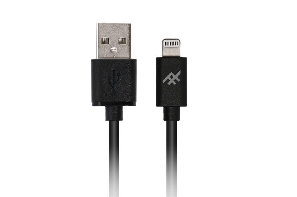 Zwarte Unique Sync™ Lightning naar USB kabel - 1,8 meter