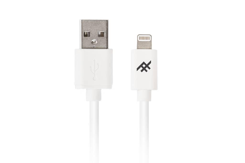 Witte Unique Sync™ Lightning naar USB kabel - 3 meter
