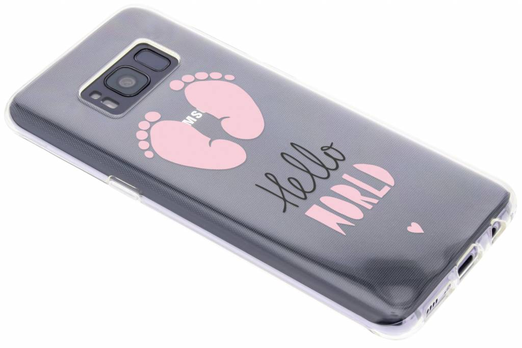 Design Backcover voor Samsung Galaxy S8 - Hello World Roze