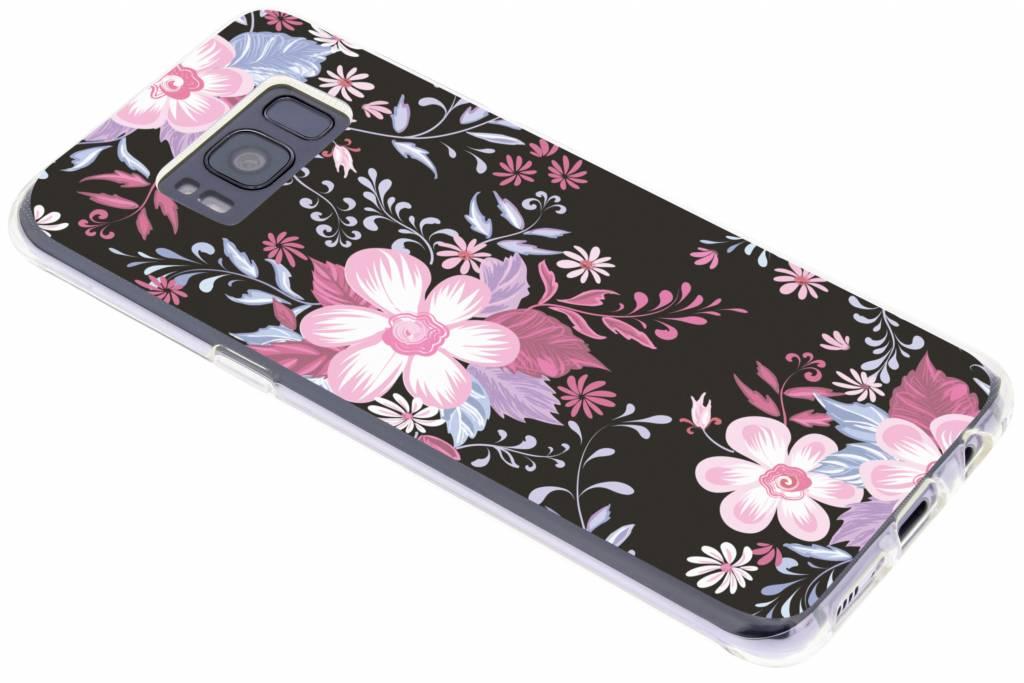 Roze bloemen design siliconen hoesje voor de Samsung Galaxy S8