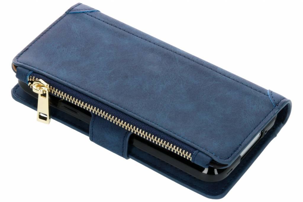 Blauwe luxe portemonnee hoes voor de Samsung Galaxy S5 (Plus) / Neo