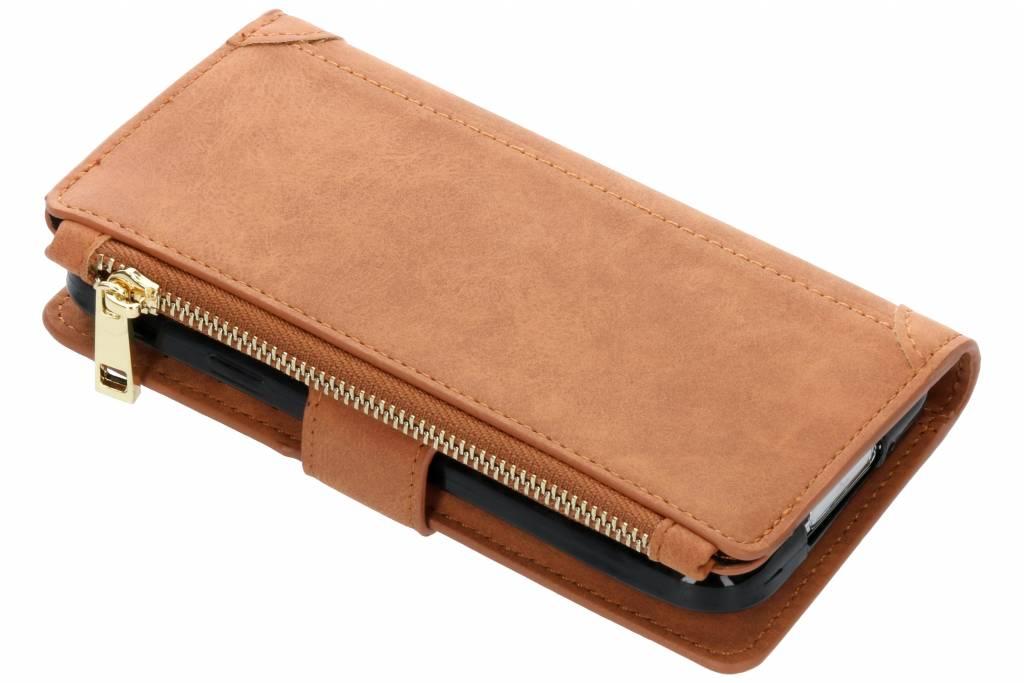 Bruine luxe portemonnee hoes voor de Samsung Galaxy S5 (Plus) / Neo